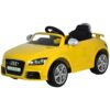 Audi TT Powered Riding Car Rechargeable Battery Car For Kids-Yellow