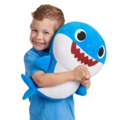 Baby Shark Daddy Shark Plush Doll with Sound (46 cm)-PFSS-08003