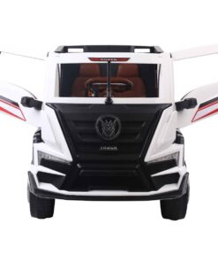 Bio Car Clunker Truck With Back Trailer Rubber Tyres & Leather Seats White 2020