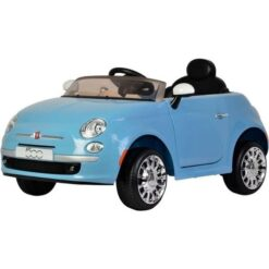 Rechargeable Licensed Ride On Fiat 500 Blue