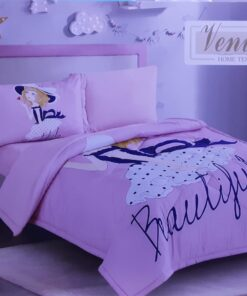 Comforter With Pillow And Blanket For Girls- PINK