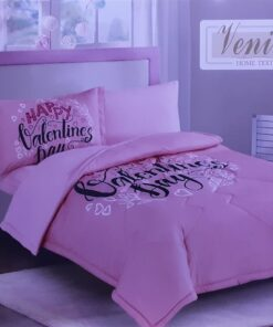 One Set Comforter With Pillow and Blanket For Girls- PINK
