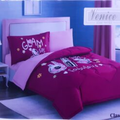 One Set Comforter With Pillow and Blanket For Girls