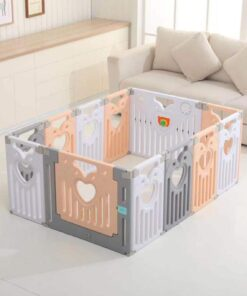 Baby Play Zone Baby Play Yard Activity PlayPen Safety Lock Playpen-Beige