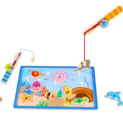 Tooky Toys Fishing Game Magnetic Wooden Puzzle