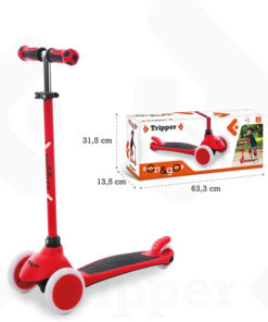 Mondo On&Go Scooter 3 Wheels Tripper - Red