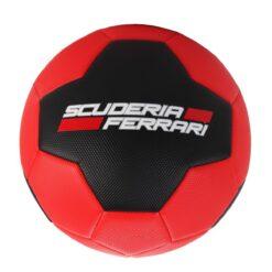 Mesuca Ferrari 5 Machine Sewing Soccer Ball Black Red - F661