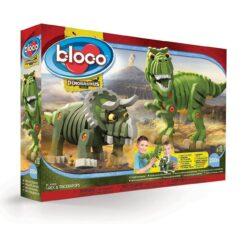 Bloco Toys T-Rex & Triceratops Stem Toy Jurassic Dinosaurs