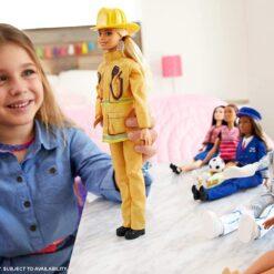 Barbie Fireman Fashion Doll Dolls 27cm Iconic Careers Mattel - GFX23