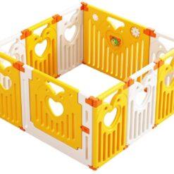 Baby Play Zone Play Yard Activity PlayPen Safety Lock Playpen - 14 Panel