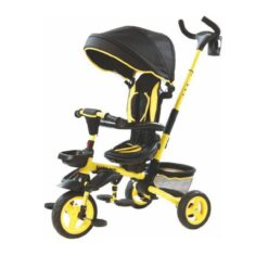 Tricycle For Toddler With Canopy and Basket - LB-385HC - Yellow