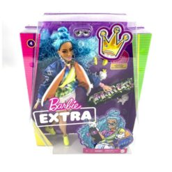 Barbie EXTRA Doll Blue Hair Bomber Jacket - GRN30