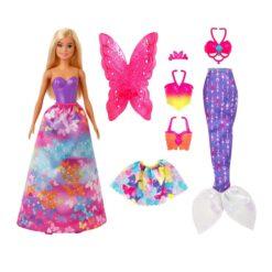 Barbie Dreamtopia Dress Up Doll Gift Set, 12.5-inch - GJK-40