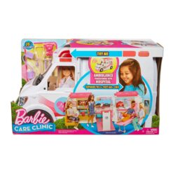 Barbie Care Clinic Vehicle Playset 2 Plus feet with Lights and Sounds - FRM19