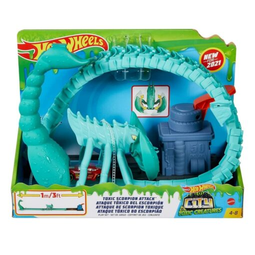 Hot Wheels Toxic Scorpion Attack Play Set for Kids 4 to 8 Years Old - GTT67