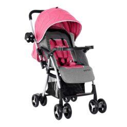 Baby Plus Pink Stroller Cum Pram 0-36 M - BP8291