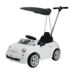 Fiat 500 Pushing Mega Car For Toddler White With Umbrella – NI-3622-C