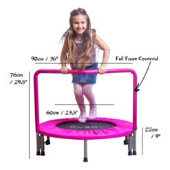 Trampoline PLENY 36-Inch Kids Mini With Handle, Safety And Durable Toddler