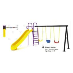 Funny Outddor Slides With Swing For Kids 390*420*280 CM - 18020
