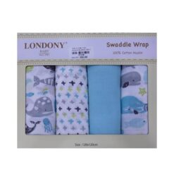 Baby Muslin Swaddle Wrap 4PCS For Girl – 2014B